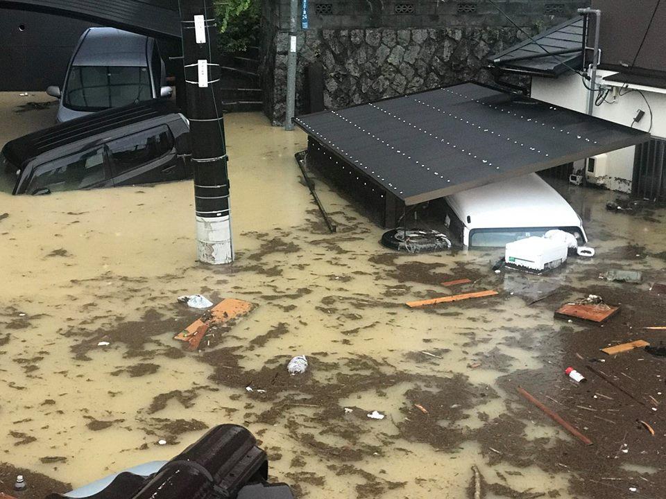 呉市 小屋浦 大雨